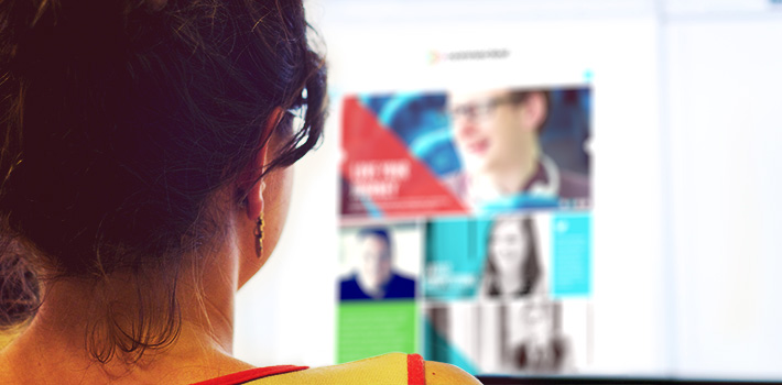 Person viewing the connected website