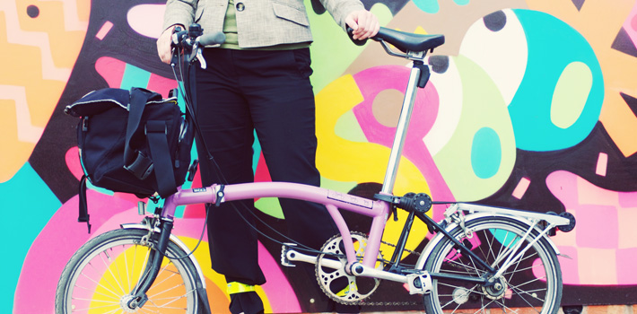 Bicycle by wall mural