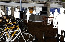 Cycling hub computer design